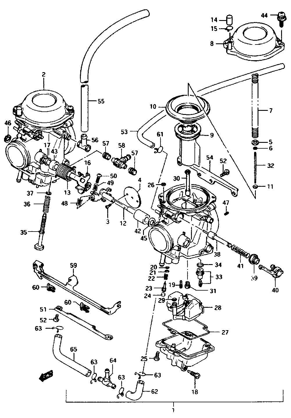 mikuni carb parts diagram