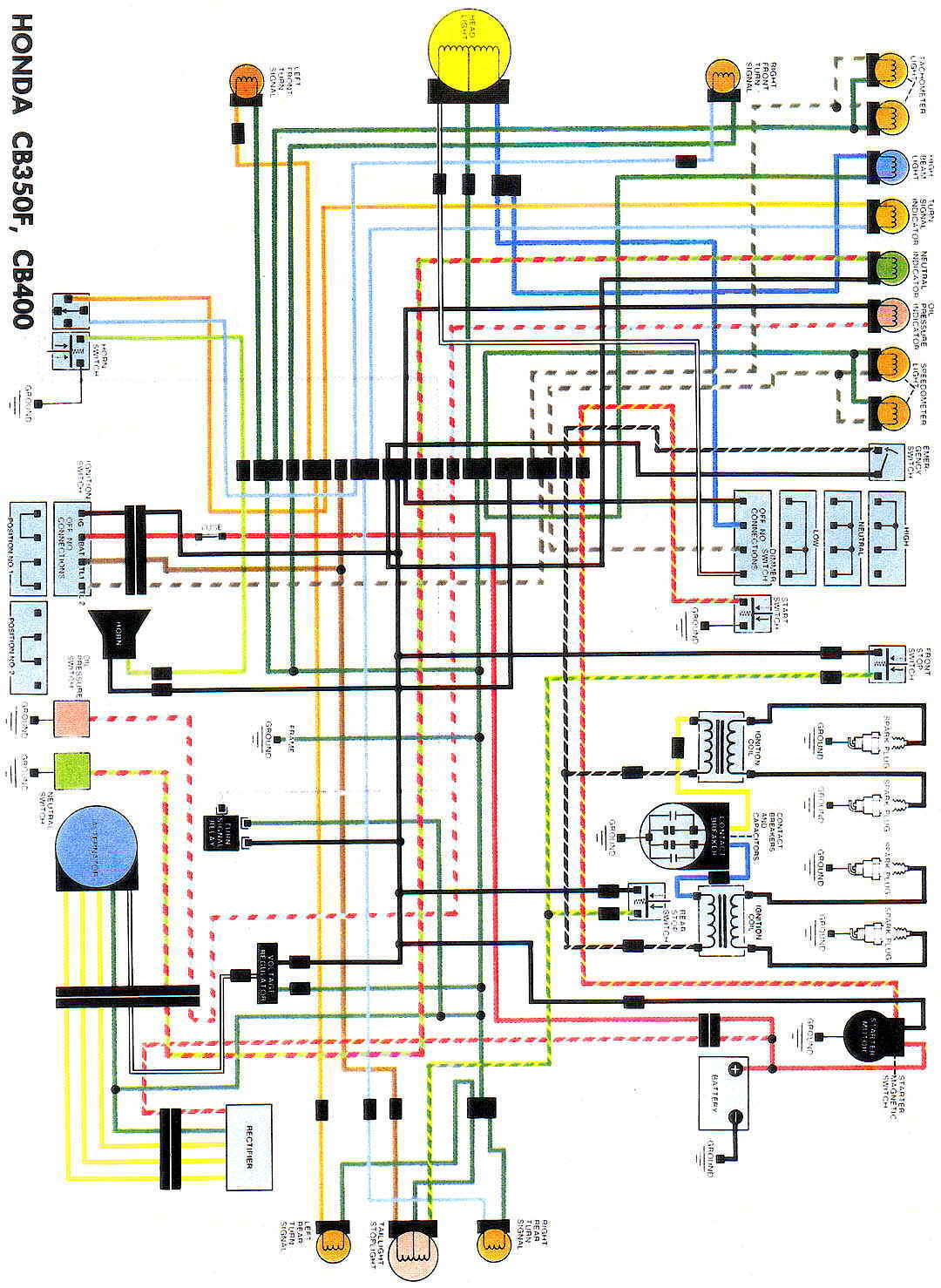 CB350F_CB400WiringDiag cb400 rectifier faq honda ft500 ignition system wiring diagram at gsmportal.co