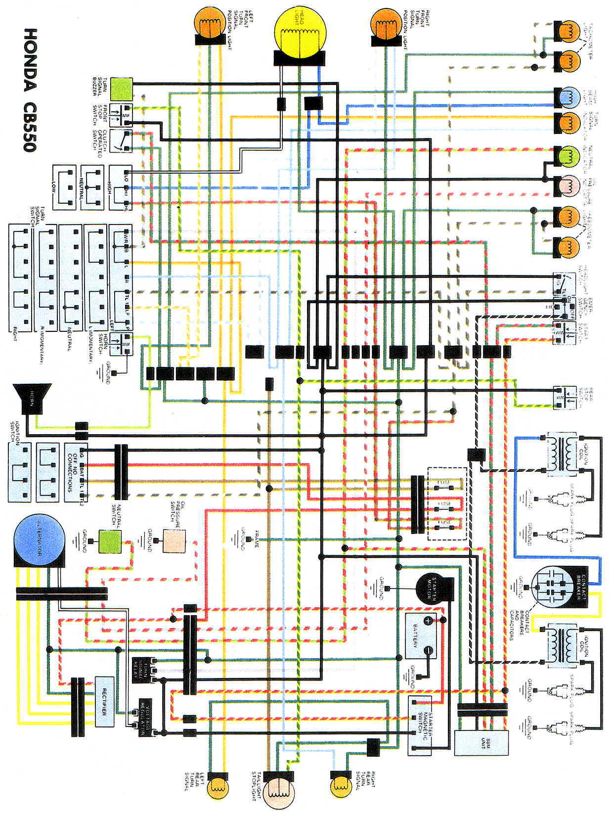 CB550WiringDiag honda cb550 wiring diagram 1976 honda cb550 wiring diagram image honda ft500 ignition system wiring diagram at gsmportal.co