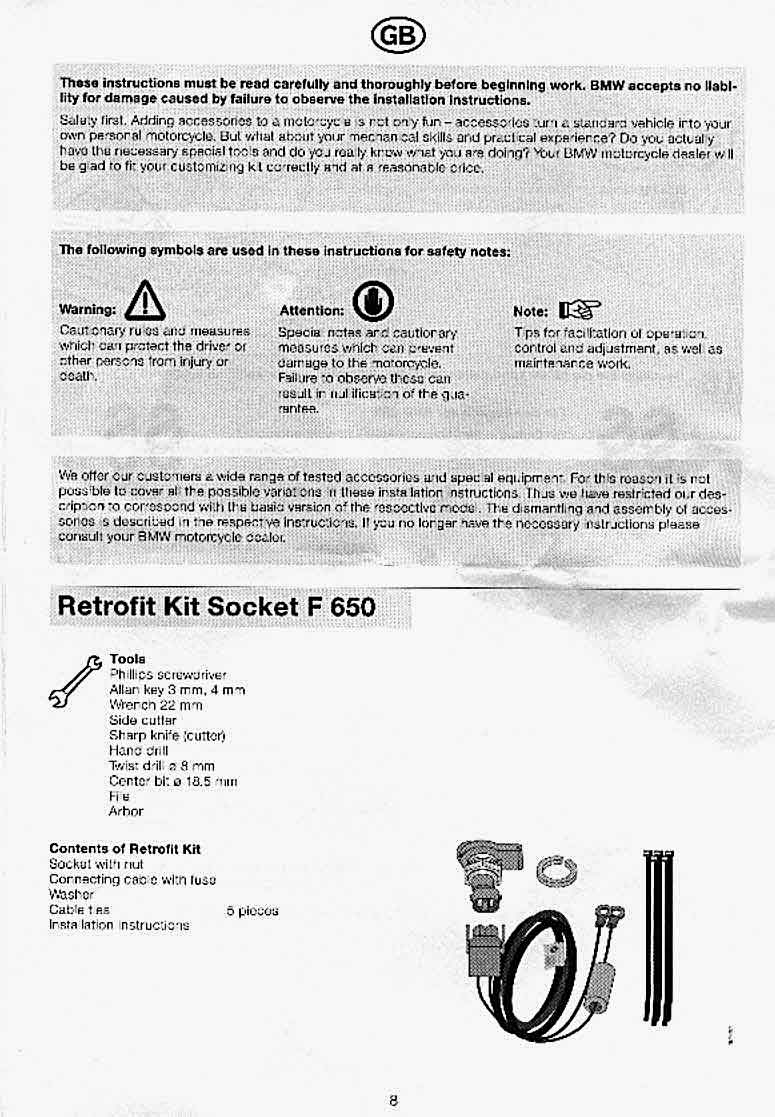 Accessory Socket Faq 2009 Bmw F650gs Wiring Diagram Plug Location Circled F650 Gs